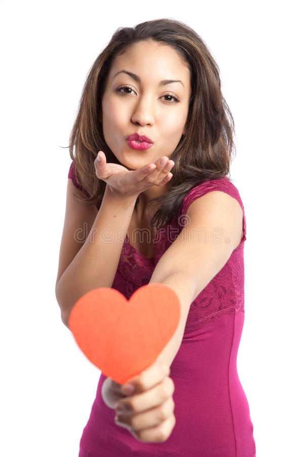 Valentinsgrußmädchen lizenzfreies stockfoto