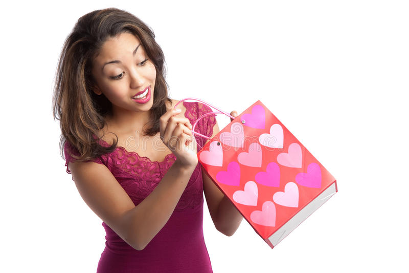 Valentinsgrußmädchen lizenzfreies stockbild