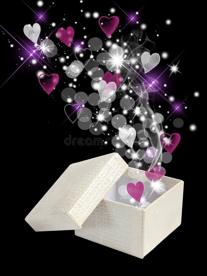 Valentinsgrußmagiekasten lizenzfreie stockfotos