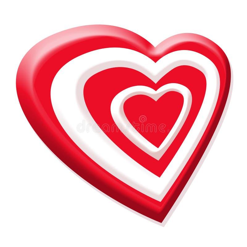 Valentinsgrußrotinneres vektor abbildung