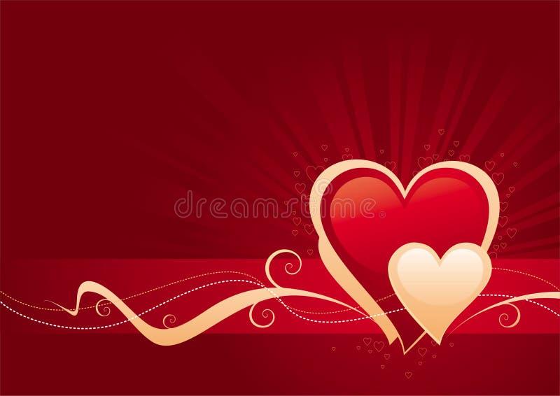 Valentinsgrußtag stock abbildung