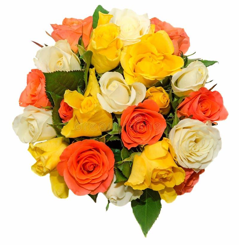 Valentinsgrußtag Blüht Mit Blumen Der Weißen, Orange, Roten Und ...