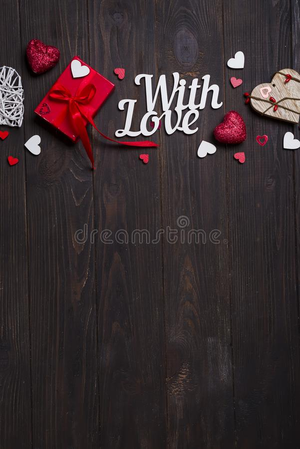 Valentinsgrußtag, Hochzeit oder andere Feiertagsdekorationen, Rahmenhintergrund lizenzfreie stockfotografie
