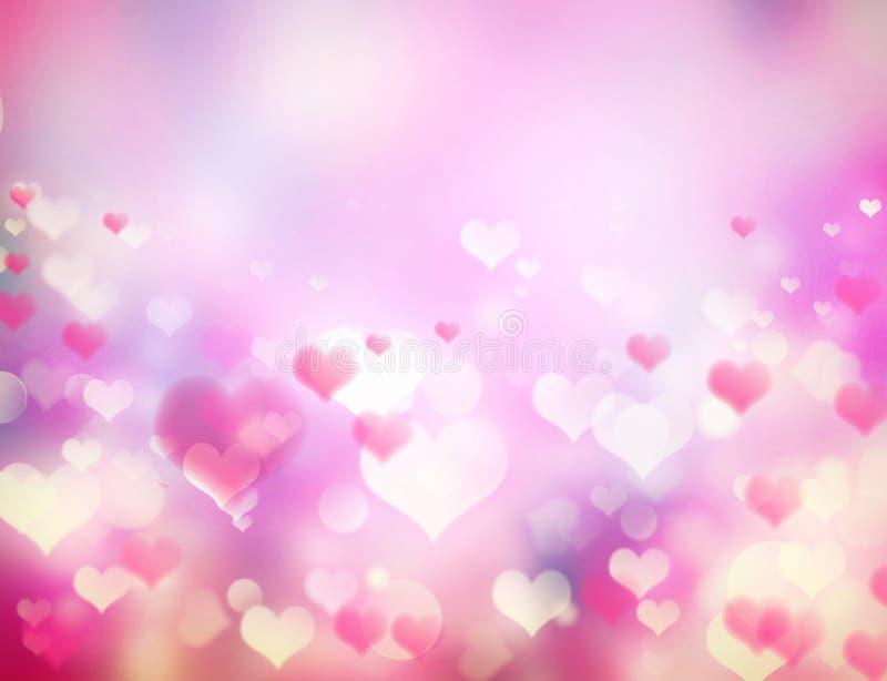 Valentinsgrußtagesfeiertag unscharfer rosa Hintergrund lizenzfreie abbildung