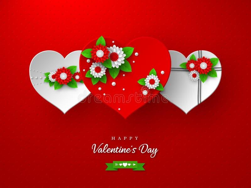 Valentinsgrußtagesfeiertagsdesign lizenzfreie abbildung