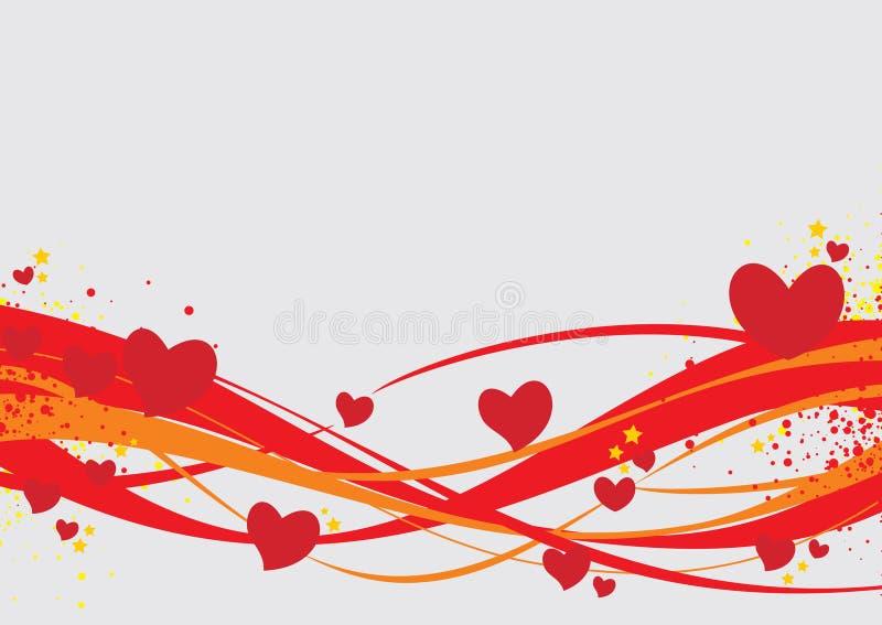 Valentinsgrußtageshintergrund lizenzfreie abbildung