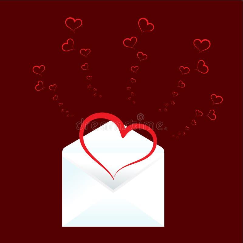 Valentinsgrußtageshintergrund, Karte lizenzfreie abbildung