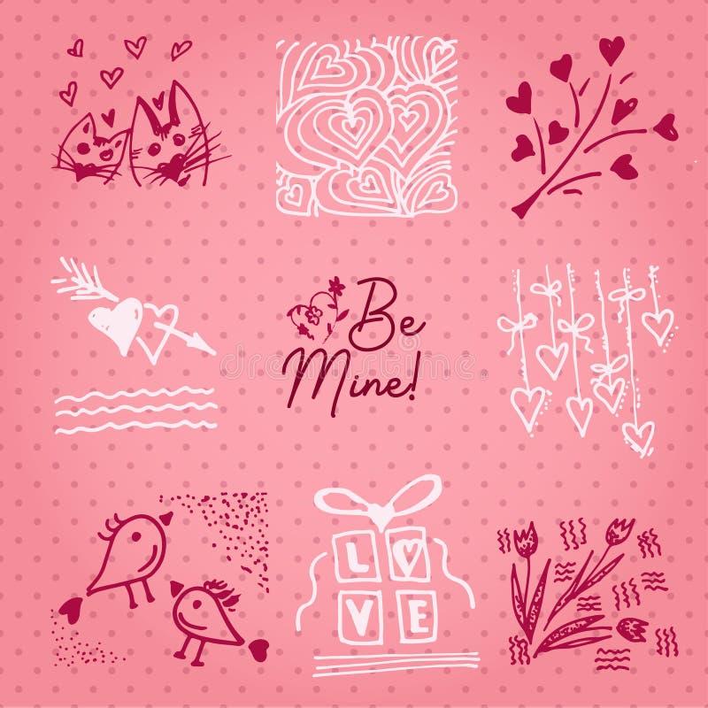Valentinsgrußtageskarte oder Einladung Whitmotivationstext sind- Bergwerk Heiratskonzept Grußkarte, Plakat, Fahne, Gestaltungsele vektor abbildung