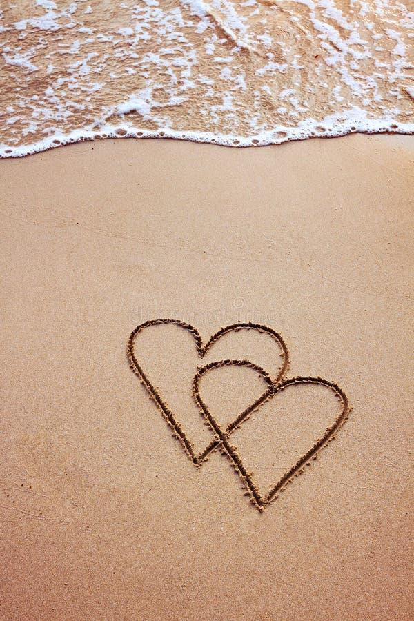 Valentinsgrußtagespostkarte lizenzfreie stockfotos