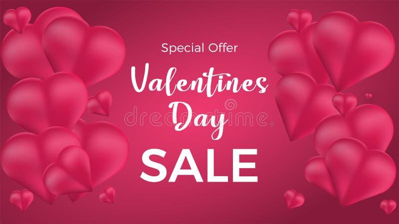 Valentinsgrußtagesverkauf Auch im corel abgehobenen Betrag lizenzfreie abbildung
