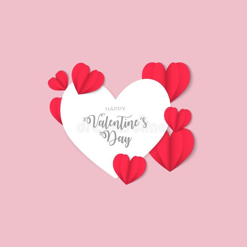Valentinsgrußtaghintergrund-Entwurf mit den Herzen geformt lizenzfreie abbildung