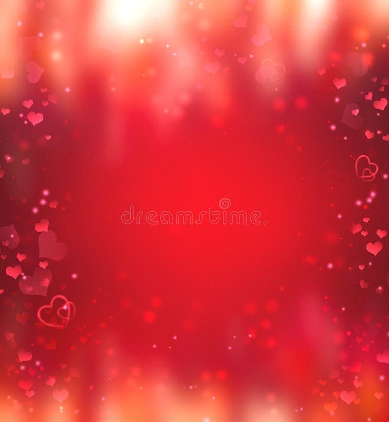 Valentinsgru? `s Tag eleganter romantischer Hintergrund mit Herzen lizenzfreie stockfotos