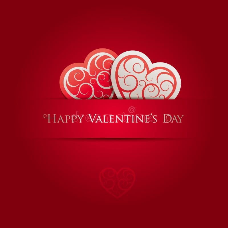 Valentinstag-Karte vektor abbildung