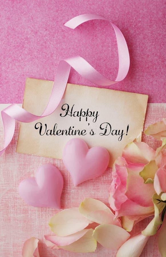 Valentinstag-Karte stockbild