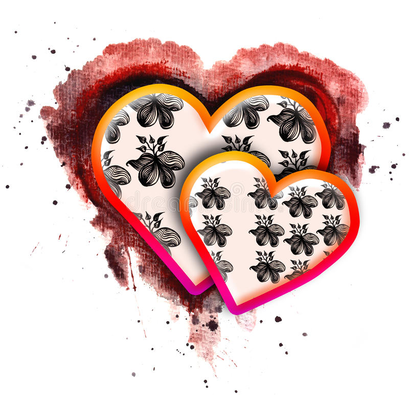 Valentinstag-Karten-Auslegung vektor abbildung