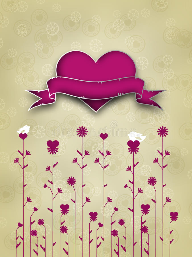 Valentinstag-Karten-Auslegung Stock Abbildung - Illustration von ...