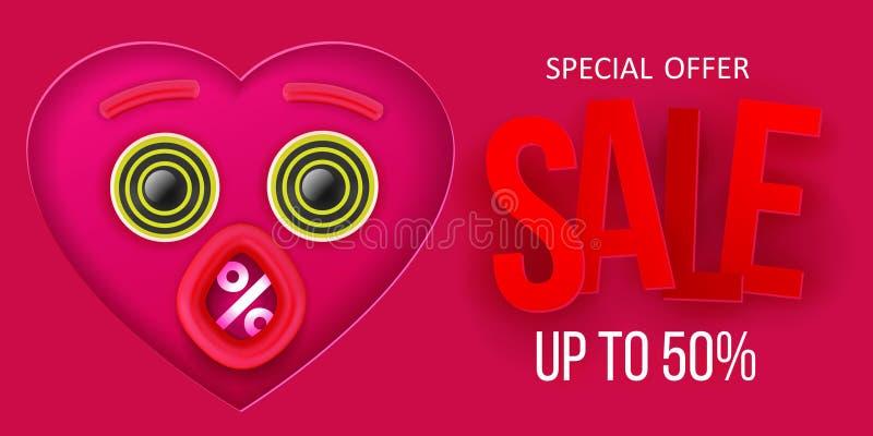 Valentinstag-Verkaufssymbol vektor abbildung
