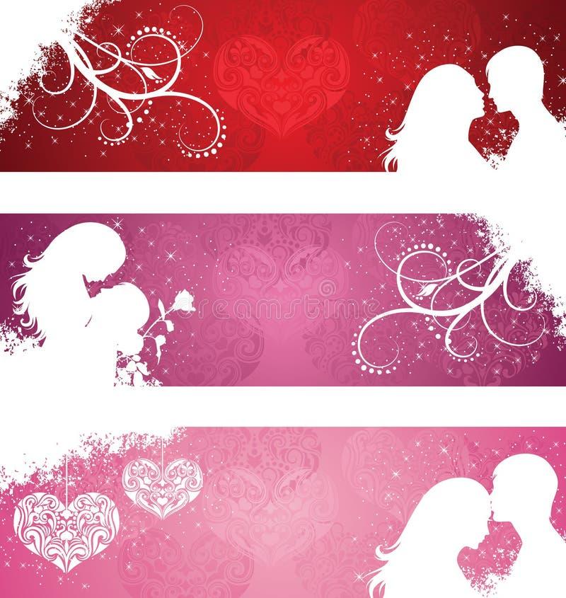 Valentinstagfahnen. vektor abbildung
