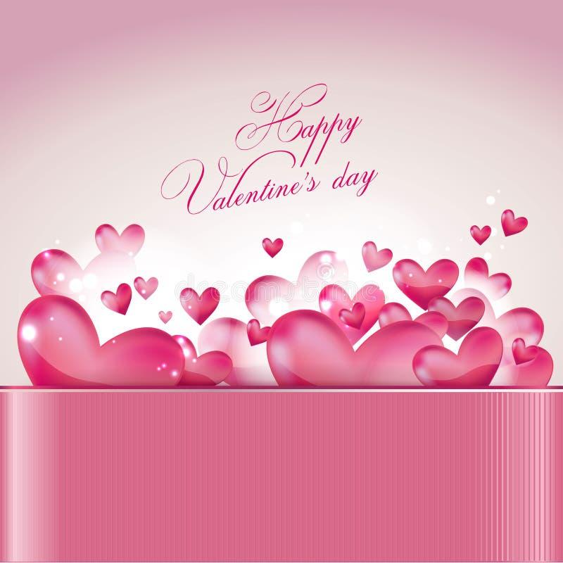 Valentinstaggrußkarte stock abbildung