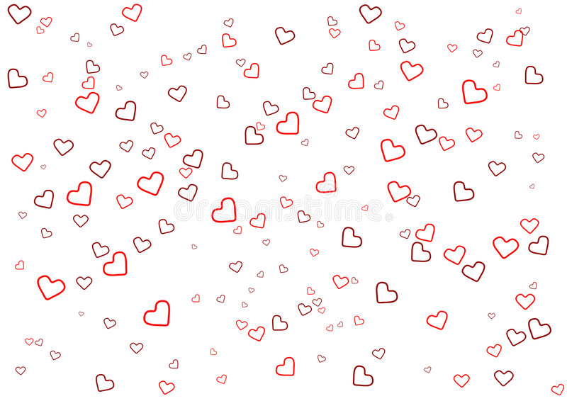 Valentinstaggrußkarte mit Innerem auf weißem Hintergrund stock abbildung