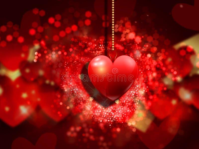 Valentinstagherzhintergrund lizenzfreie abbildung