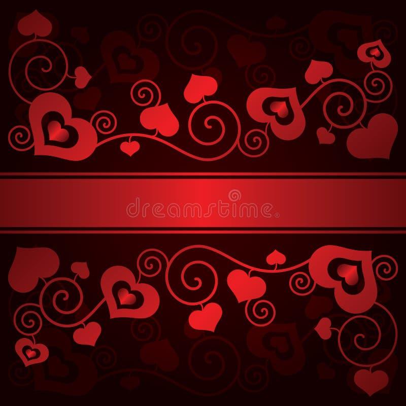 Valentinstaghintergrund mit Herzen stock abbildung