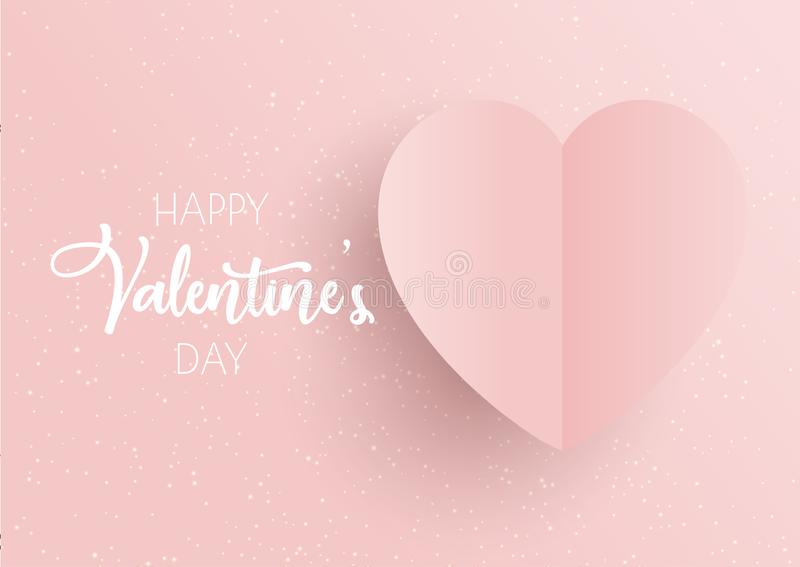 Valentinstaghintergrund mit rosa Herzen vektor abbildung