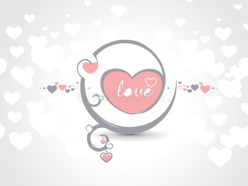 Valentinstagkarte stock abbildung