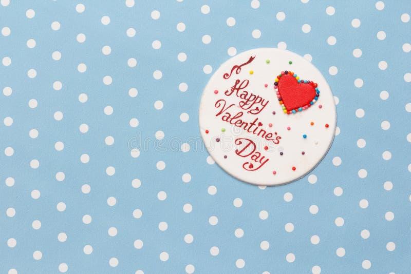 Valentinstagliebesmitteilung stockfotografie
