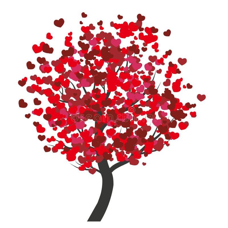 Valentinträd stock illustrationer