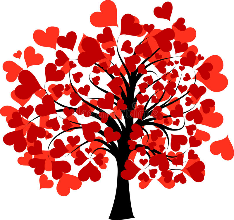 Valentintree,   stock illustrationer