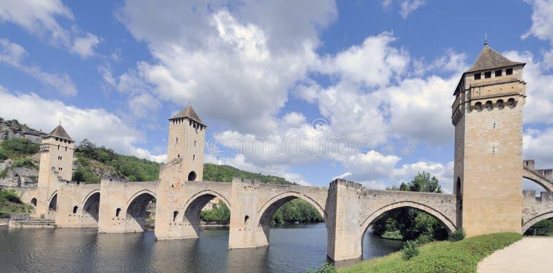 valentre för cahors dordognefrance pont royaltyfria foton
