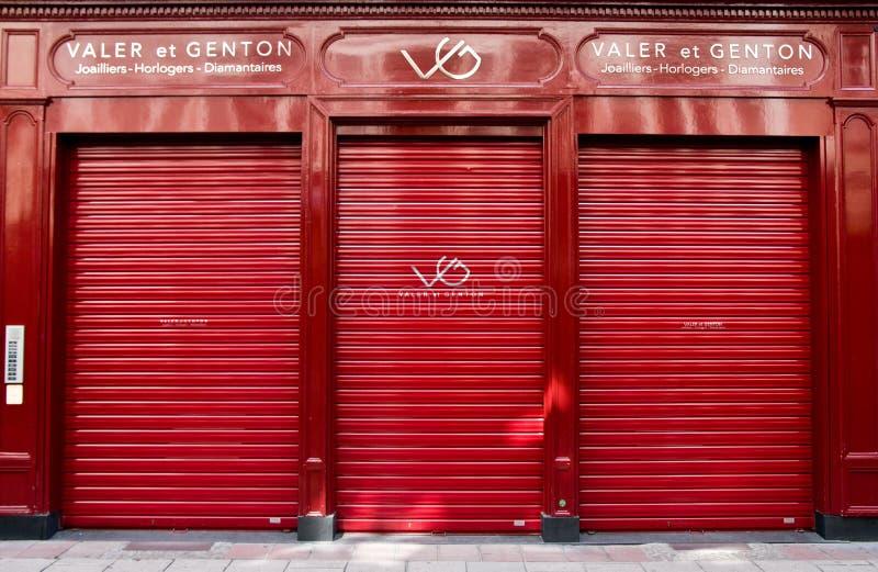 Valer et κατάστημα Genton σε Strasburg Γαλλία στοκ φωτογραφία