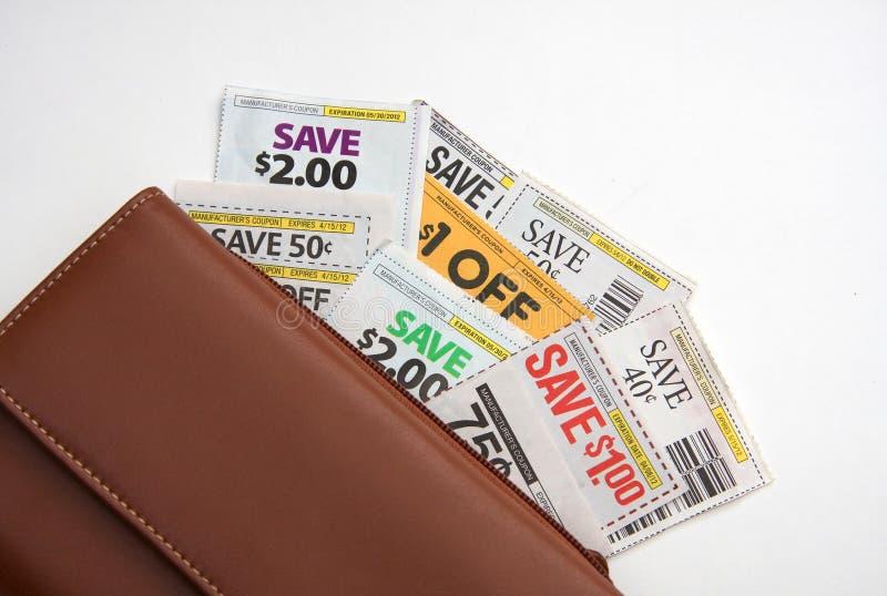 Vales e carteira imagens de stock royalty free