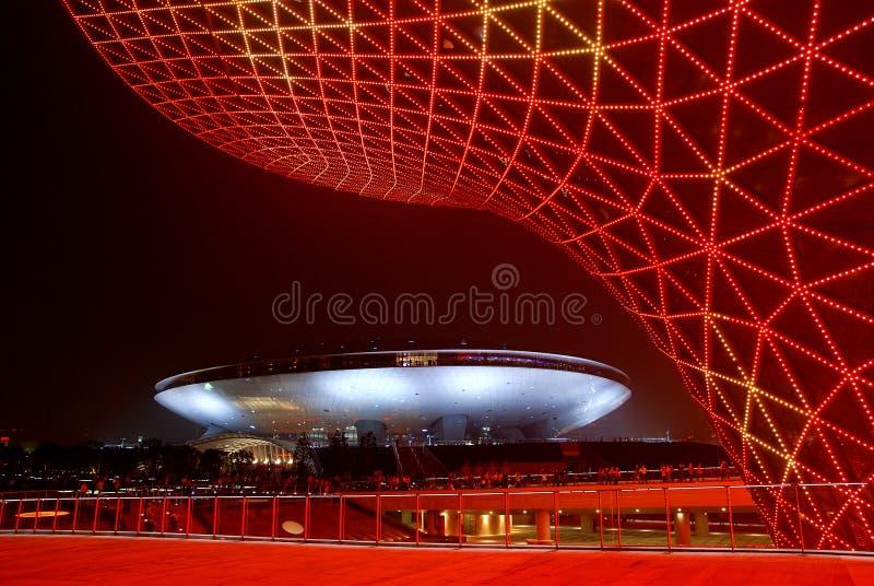 VALES VERMELHOS DO SOL NA EXPO 2010 DE SHANGHAI imagem de stock royalty free