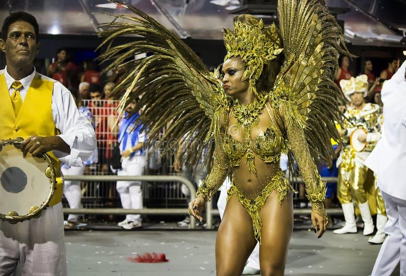 Valeska Reis - Império de Casa Verde - Carnaval - São Paulo, Brasilien 2015 stockbild