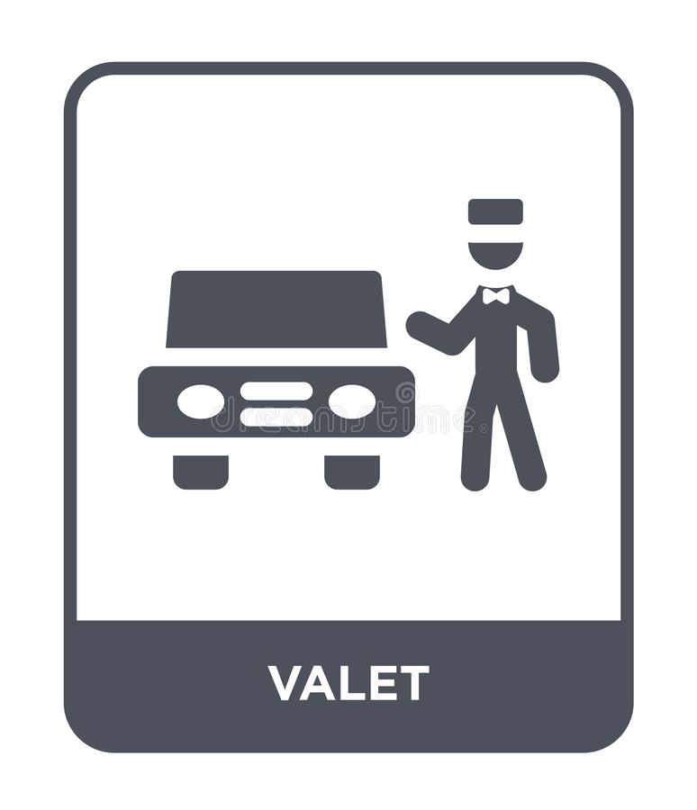 valet icon in trendy design style. valet icon isolated on white background. valet vector icon simple and modern flat symbol for stock illustration
