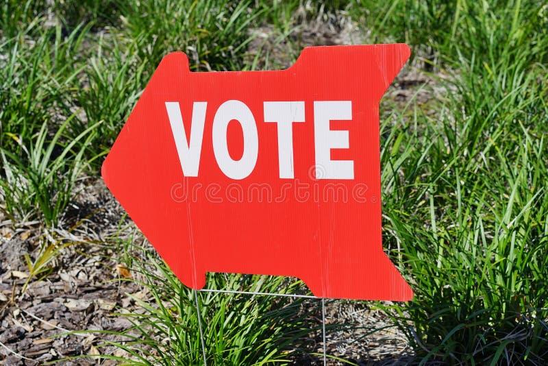 Valet röstar tecknet royaltyfri bild