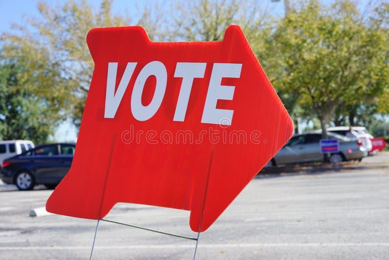 Valet röstar tecknet royaltyfri fotografi