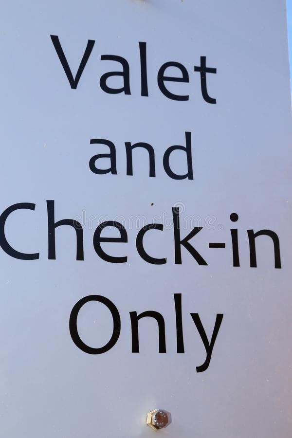 Luxury Car- sign for Valet parking of expensive luxury cars stock images