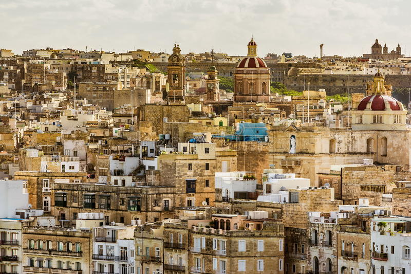 Valetta buildings, Malta stock photo