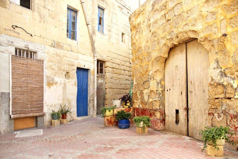 valetta malta зоны старое селитебное стоковая фотография