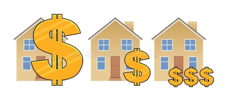 Valeur d'hypothèque illustration de vecteur