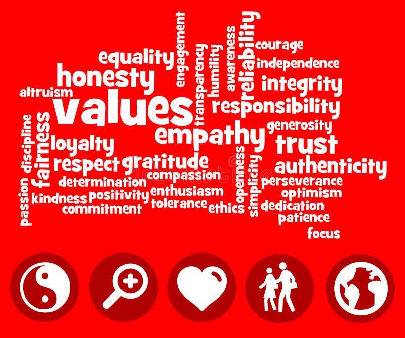 valeurs illustration de vecteur
