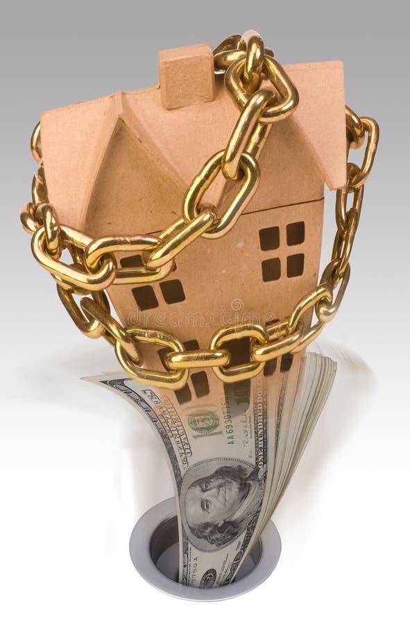 Valeurs d'une propriété en baisse image libre de droits