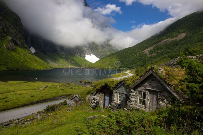 Valey Nibbedalen κοντά σε Geirangerfjord στη Νορβηγία στοκ φωτογραφίες με δικαίωμα ελεύθερης χρήσης
