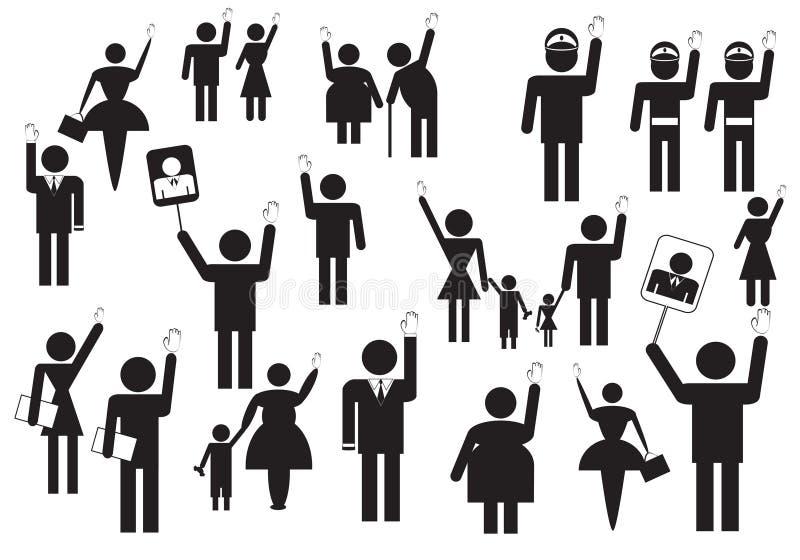 valfolkröstning stock illustrationer