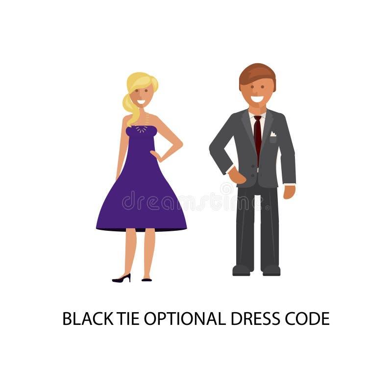 Valfri klänningkod för smoking vektor illustrationer