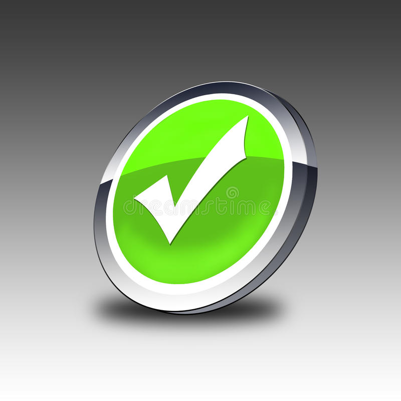 Download Validation button stock illustration. Image of assent - 13580996