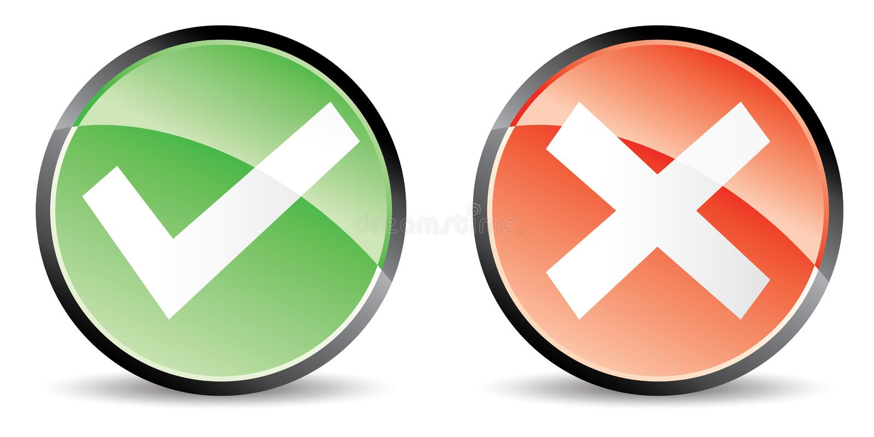 Validation cancel button royalty free illustration